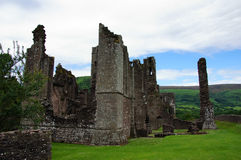 Llanthony priory in Brecon Beacons Stock Image