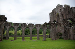 Llanthony priory in Brecon Beacons Royalty Free Stock Photo