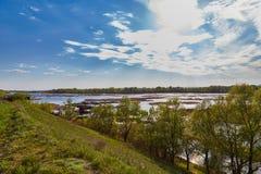 Llanura de inundación de Volga en la primavera Imágenes de archivo libres de regalías
