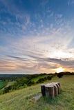 Llanuras del norte en la puesta del sol Imagen de archivo libre de regalías