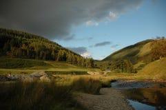 Llanwrtyd Wells, montagnes Images libres de droits