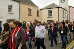 Llareggub audience in Laugharne Stock Photo