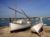 Llaut Boats. Typical llaut boats in Majorca (Balearic Islands - Spain Royalty Free Stock Photos
