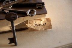 Llave al éxito Imagen de archivo libre de regalías