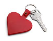 Llave al corazón Imagen de archivo libre de regalías