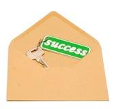 Llave al éxito Imágenes de archivo libres de regalías