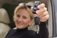 Llave automática del coche Foto de archivo