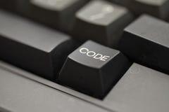 Llave de código - tiro cercano Imagen de archivo