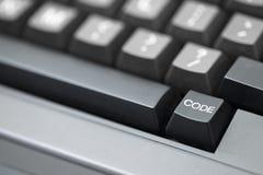 Llave de código - tiro cercano Foto de archivo