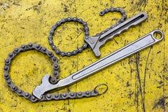 Llave de cadena Fotografía de archivo libre de regalías