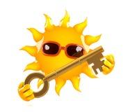 llave de 3d Sun Imagenes de archivo