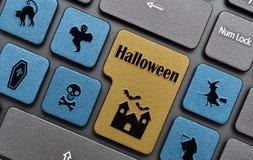 Llave de Halloween en el teclado Fotografía de archivo libre de regalías
