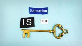 Llave de la educación imagen de archivo libre de regalías
