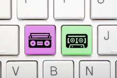 Llave de la música en el teclado Fotografía de archivo