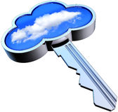 Llave de la nube Fotos de archivo