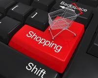Llave de las compras en el teclado Foto de archivo libre de regalías