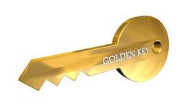 Llave de oro ilustración del vector