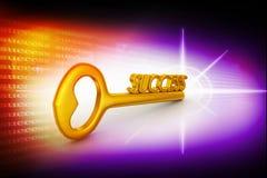 Llave de oro al éxito Imagen de archivo libre de regalías