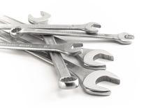Llave de rectángulo y llave inglesa de la quijada Foto de archivo libre de regalías