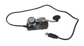 Llave de telégrafo del código Morse del USB Imagen de archivo