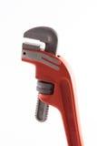 Llave de tubo anaranjada Imagen de archivo libre de regalías