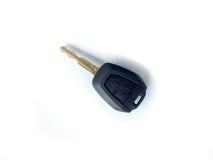 Llave del coche aislada en blanco fotografía de archivo