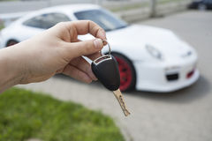 Llave del coche deportivo Imagen de archivo libre de regalías