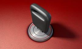 Llave del coche en la ignición Imagenes de archivo