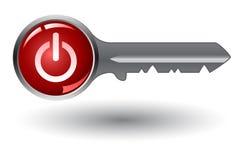 llave electrónica con el interruptor electrónico con./desc. stock de ilustración