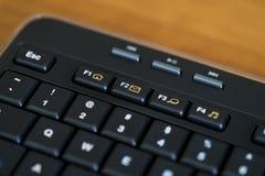 Llave negra del correo electrónico del teclado de ordenador Imágenes de archivo libres de regalías