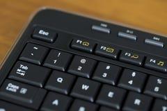 Llave negra del teclado de ordenador @ Imagenes de archivo