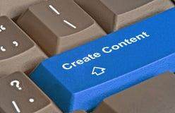 Llave para la creación del contenido fotografía de archivo