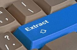 llave para la extracción de datos fotografía de archivo