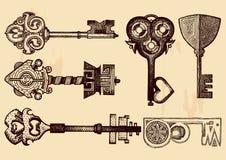 Llaves de la fantasía fijadas Imagen de archivo