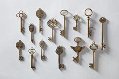 Llaves de oro antiguas Foto de archivo libre de regalías