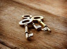 Llaves de oro del vintage Imagen de archivo libre de regalías