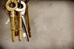 Llaves de oro del vintage Fotografía de archivo libre de regalías