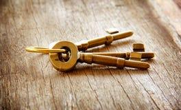 Llaves de oro del vintage Foto de archivo