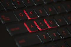 Llaves de teclado de ordenador de WASD Imágenes de archivo libres de regalías