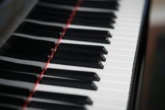 Llaves de teclado de piano imágenes de archivo libres de regalías