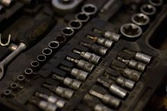 Llaves de zócalo con los pedazos sucios Imagen de archivo libre de regalías