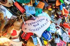 Llaves del amor Fotografía de archivo libre de regalías
