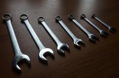 Llaves del metal plateado Fotos de archivo