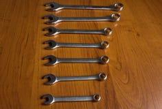 Llaves del metal plateado Foto de archivo libre de regalías