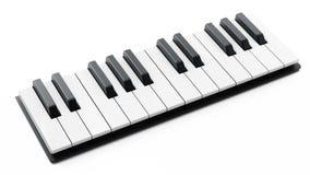 Llaves del piano aisladas en el fondo blanco ilustración 3D Fotos de archivo libres de regalías