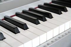 Llaves del piano de Digitaces Fotografía de archivo