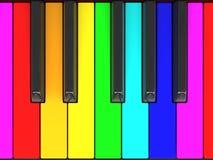 Llaves del piano del color Fotos de archivo