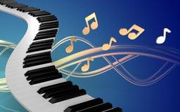 llaves del piano del espacio en blanco 3d Foto de archivo libre de regalías