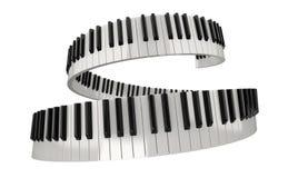 Llaves del piano (trayectoria de recortes incluida) Imágenes de archivo libres de regalías