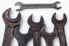 Llaves inglesas de diversos tamaños Imagen de archivo libre de regalías